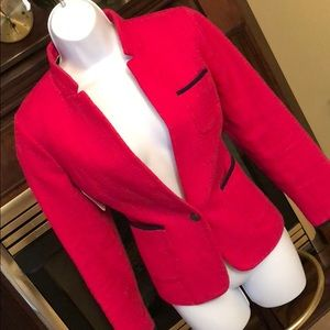 Pretty lined pink & black Banana Republic blazer!